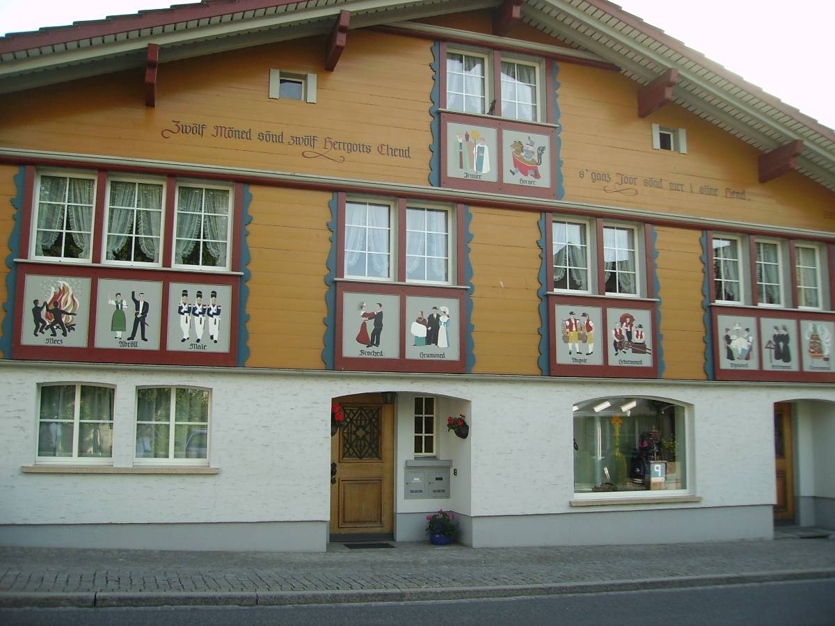 Typical house in Appenzell